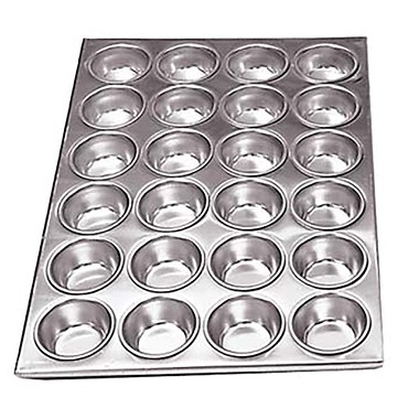 "Adcraft AMP-24 - Muffin Pan, 24 cup, 20-1/2"" x 14"", aluminum."