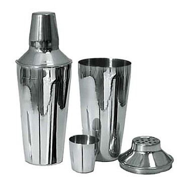 Adcraft BAR-3PC - 3-Piece Bar Shaker Set, Full size 30 oz, includes: shaker, s
