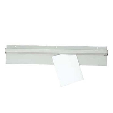 "Adcraft CM-36 - Check Minder, 36"" long, wall mount, slide style, aluminum with g"