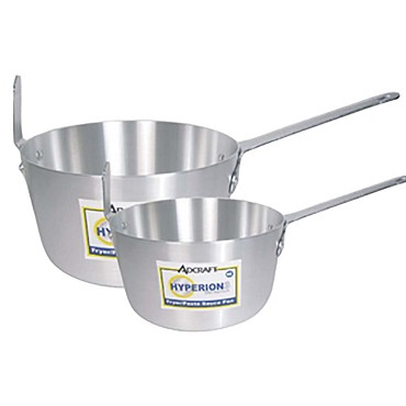 Adcraft H3-FP7 - Sauce Pan, tapered, 7 qt. capacity, chrome plated steel hook riv