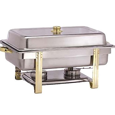 Adcraft GRV-8 - Gold Riviera Oblong Chafer, 8 qt.