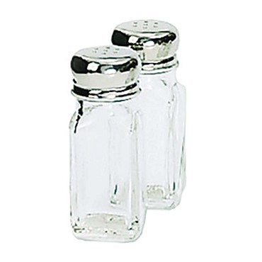 "Adcraft MSQ-2 - Salt/Pepper Shaker, 2 oz., 4""H, square, glass, (Case of 12)"