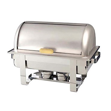 Adcraft ROL-1 - Grand Prix roll top full size 8 qt. chafer, 18/8 stainless stee