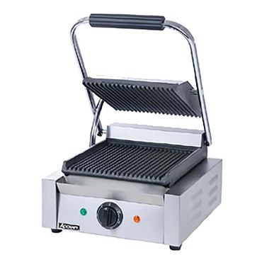 "Adcraft SG-811 - Sandwich Grill, single, 8"" x 8"" grill surface, thermostat temper"