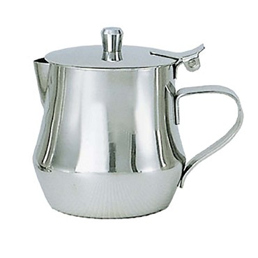 Adcraft TIF-11CP - Tiffany Cover Creamer, 12 oz., 18/8 stainless steel, knob top