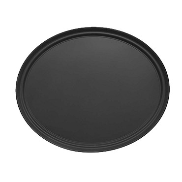 Adcraft NST-2429BK/OVAL - Serving Tray