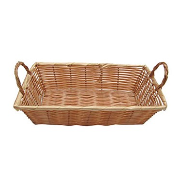 Adcraft OBB-128 - Oblong Basket w/Carrying Handles, 12 x 8 x 3 in.