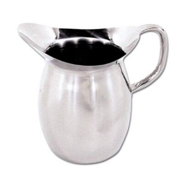 Adcraft DBP-2 - Deluxe Bell Pitcher, 2-1/8 qt. capacity, 18/8 stainless steel, t