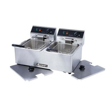 Adcraft DF-6L/2 - Electric Countertop Fryer, Double Fry Pot