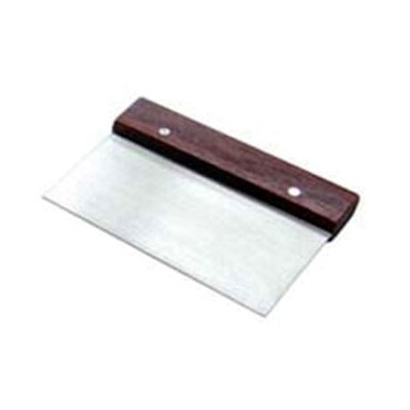 "Adcraft DS-6 - Dough Scraper, stainless steel blade with wood handle, 6"" wide x"
