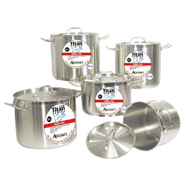 Adcraft SSP-100 - Induction Stock Pot, 100 Qt Titan Series w/ Lid, NSF certified