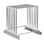 Adcraft CBRS-6 - Stainless Steel Wire Cutting Board Rack, 6 Slot