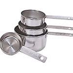 Adcraft MCS-4 - Measuring Cup Set, 4-piece, nestable, 1/4, 1/3, 1/2 & 1 cup capacities