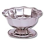 Adcraft SBS-4GB - Sherbet Dish, 4 ounce, 18/8 stainless steel, scalloped top rim,