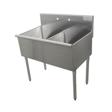 6-2-48 Advance Tabco - Square Corner Kitchen Sink, two compartment, 21