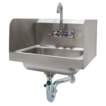 "Advance Tabco 7-PS-40 - Hand Sink, wall model, 14"" wide x 10"" front-to-back x 5"""