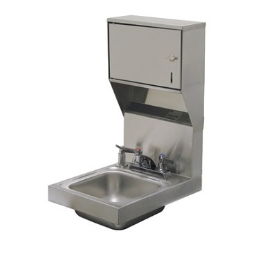 "Advance Tabco 7-PS-83 - Hand Sink, wall model, 9"" wide x 9"" front-to-back x 5"" d"