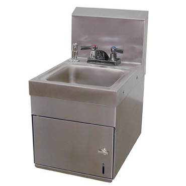 "Advance Tabco 7-PS-88 - Hand Sink, wall model, 9"" wide x 9"" front-to-back x 5"" d"