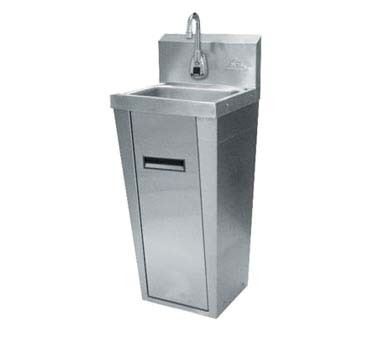 "Advance Tabco 7-PS-91 - Hand Sink, pedestal mounted base, 14""W x 10"" front-t"