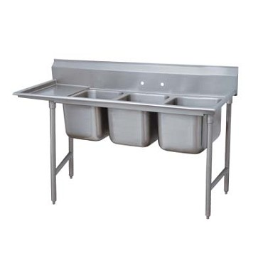 Advance Tabco 9-23-60-36L - Regaline Sink, 3-compartment, with left-hand drainbo