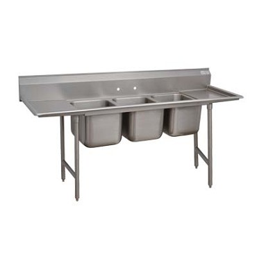 Advance Tabco 9-23-60-36RL - Regaline Sink, 3-compartment, with left & right-han