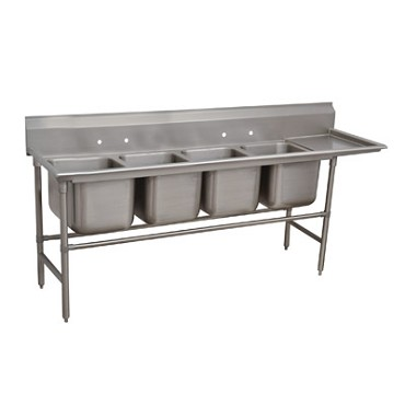 Advance Tabco 94-84-80-36R - Regaline Sink, 4-compartment, with right-hand drain