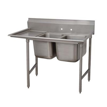 Advance Tabco 9-2-36-24L - Regaline Sink, 2-compartment, with left-hand drainboa