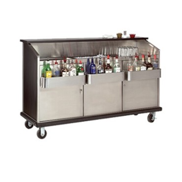 "Advance Tabco AMD-6B - Ambassador Portable Bar, 72"" long, s/s workboard & ice bi"