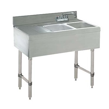 "Advance Tabco CRB-32R - 36"" Challenger Underbar Sink Unit, 2 sink compartments, 36"" long"