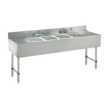 Advance Tabco CRB-74C - Challenger Underbar Work Board Sink Unit, with four sink compart