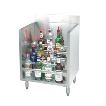 Advance Tabco CRLR-12 - Underbar Basics™ Liquor Bottle Display Unit, (5) steps,