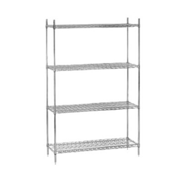 "Advance Tabco ECC-1854 - Shelving Unit, wire, 54""W x 18""D x 74""H, includes: (4)"