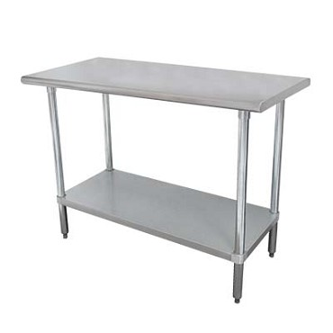 Advance Tabco ELAG-306-X - Work Table, 72 x 30 inch, 16 gauge 430 series stainless steel