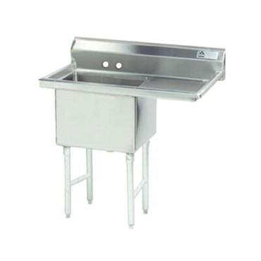 "Advance Tabco FC-1-1620-18R - Fabricated NSF Sink, 1-compartment, 18"" right drai"