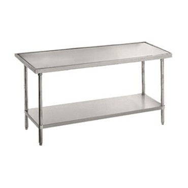 Advance Tabco VSS-246 - Work Table, 72 x 24 inch, 14 gauge 304 series stainless steel