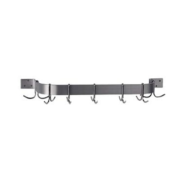 "Advance Tabco SW1-36 - Pot Rack, wall-mounted, single bar design, 36""L, with"