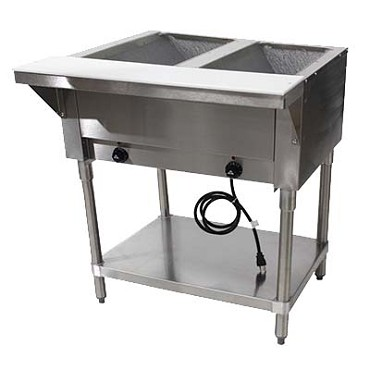 "Advance Tabco HF-2E-120 - Triumph Hot Food Table, Elec., 31.812"" long, (2) 12"" x 20"" hot f"