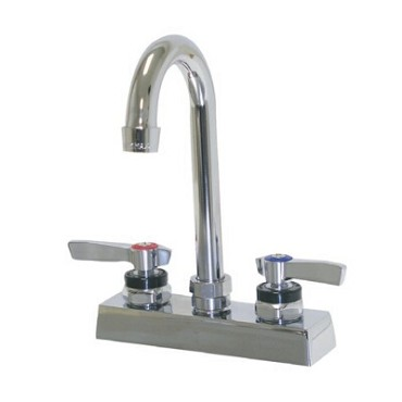 "Advance Tabco K-62 - Extra Heavy Duty Faucet, 4"" O.C, deck mounted with 3-1/2"" g"
