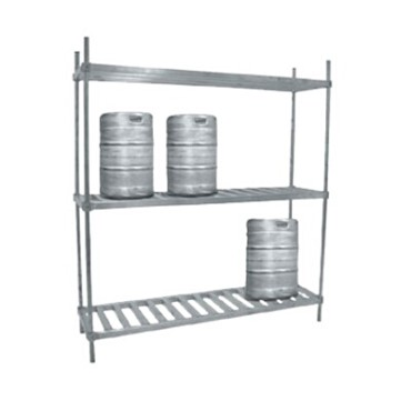 "Advance Tabco KR-93 - Keg Rack, 93""W x 20""D x 76""H, (3) shelves, accommodates (1"