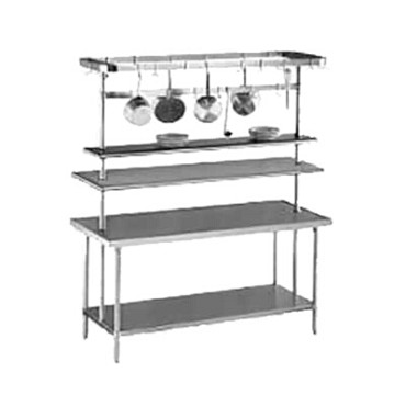 "Advance Tabco SCT-48 - Pot Rack, table mounted, circular design, 48"" long, stain"