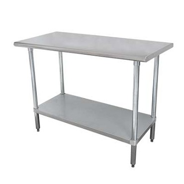 Advance Tabco SLAG-305-X - Work Table, 60 x 30 inch, 16 gauge 430 series stainless steel
