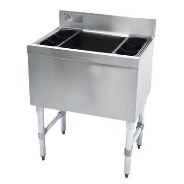 "Advance Tabco SLI-12-36-7 - Slimline Cocktail Unit, 12"" deep chest w/7-circuit cold plate, 3"