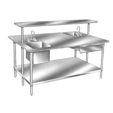 Advance Tabco TSS-4811 - Work Table, 132 x 48 inch, 14 gauge 304 stainless steel