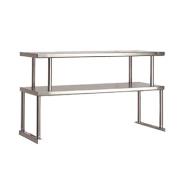 "Advance Tabco TOS-5-18 - Double Tier Overshelf, 77.750"" long x 18"" deep, 18 ga. stainless"
