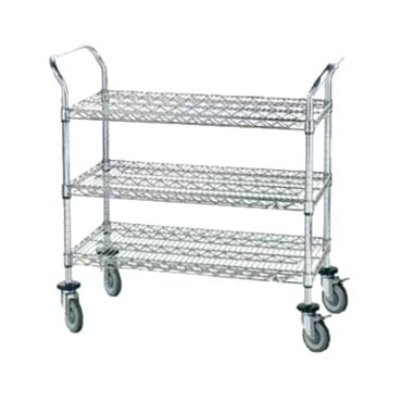 Advance Tabco WUC-1836P - Lite™ Series Wire Utility Cart, heavy duty, (3) shelve