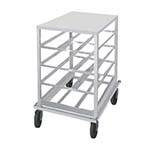 Advance Tabco CR10-54 - Can Rack, low-profile mobile design with aluminum top, w