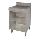 Advance Tabco CRD-30BM - Underbar Drainboard, open cabinet base with mid shelf,