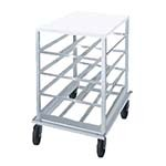 Advance Tabco CRPL10-54 - Can Rack, low-profile mobile design with poly top, wit