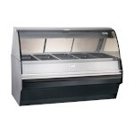 Alto-Shaam TY2SYS-72-BLK - Full Service Deli Display Case w/Blk Panels, 72 in.
