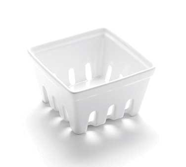 "American Metalcraft BBSKT1 - Berry Basket, 3-7/8""L x 3-7/8""W x 1-7/8""H, small, square, ceramic, white"
